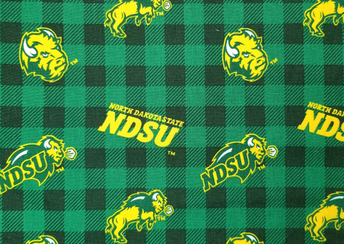 NDSU - Bison, buffalo plaid, green and black