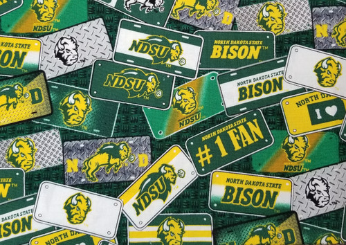 NDSU - Bison, license plate