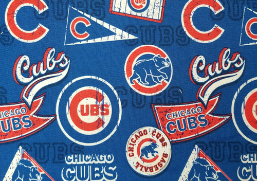 Chicago Cubs - red, blue, white, pennant