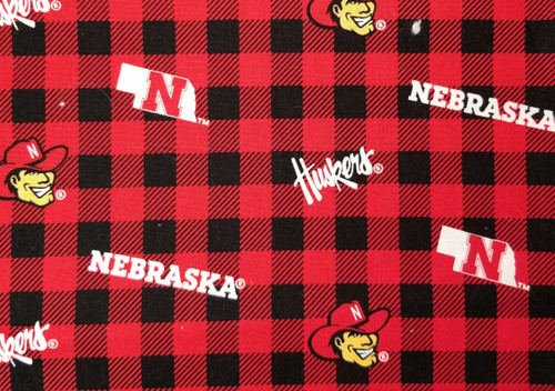 Nebraska Huskers - buffalo plaid, red and black