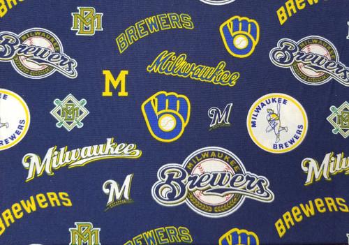 Milwaukee Brewers - navy and yellow