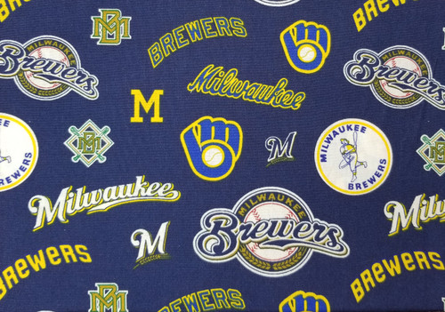 Milwaukee Brewers - navy and yellow