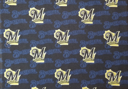 Milwaukee Brewers - navy and yellow on black
