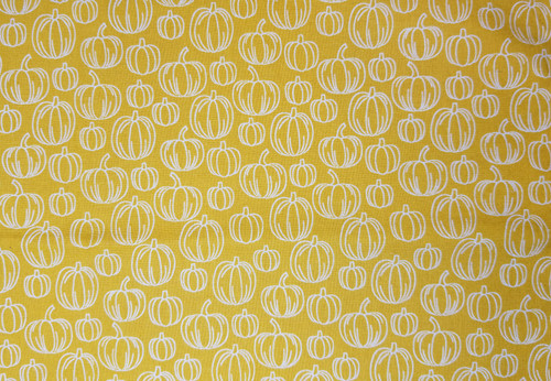 Pumpkins on Mustard Yellow