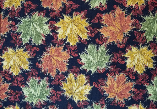 Batick Fabric Leaves in Rich Fall Colors