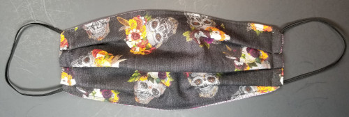 Halloween - Skulls with Floral on Top on Charcoal