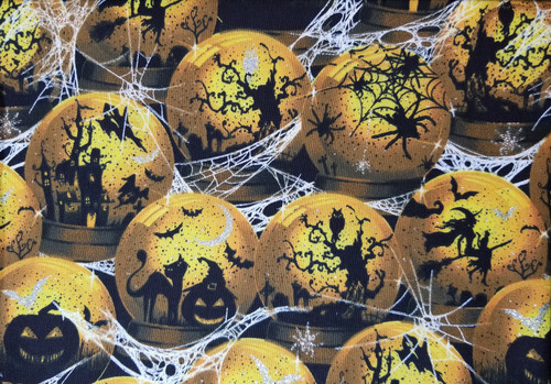 Halloween - Halloween Screens in Magic Balls with Glitter Bats
