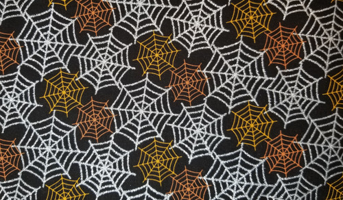 Halloween - Sparkly Cob Webs with Orange / Rust Web