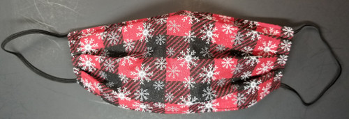 Christmas - Buffalo Plaid with Snow Flakes