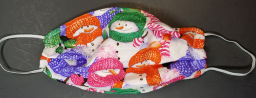 Christmas - Snowman with Bright Scarves and Hats