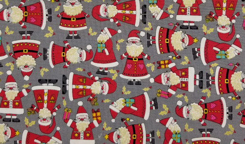 Santa on Grey Background