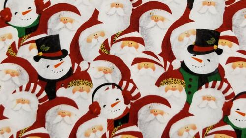 Santa and Snowmen with Fun Hats