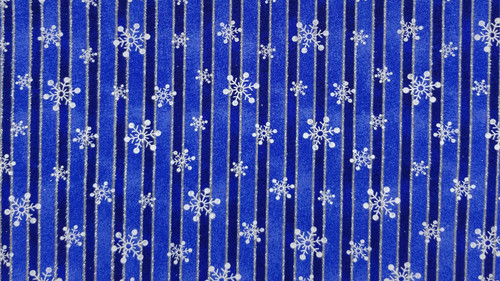 Winter Snowflakes on Navy with Blue and Silver Sparkles
