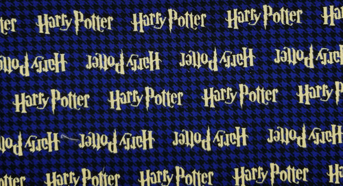 Harry Potter on Blue / Black Plaid