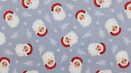 Santa Faces on Grey