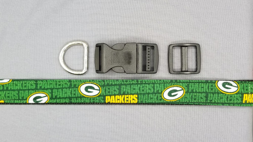 Collar - Green Bay Packers with Gold Packers on Green