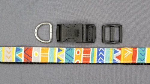 Collar - Multicolored Bands with Geometric Designs