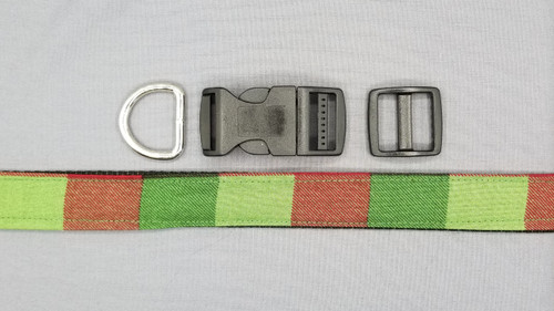 Collar - Red, Dark Green, and Light Green Bars