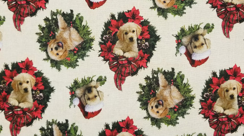 Christmas Wreaths with Golden Retriever
