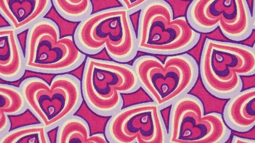 Artsy Hearts in Red / Pink / Blue - 125