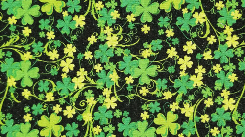 Clovers on Black - 125