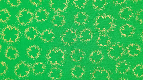 Large Green Clovers in Green - 125