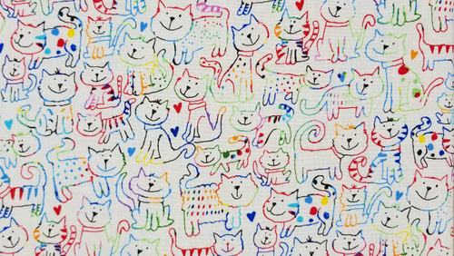 Colorful Cat Outlines - 125