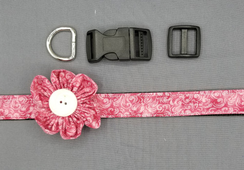 "Collar & Rounded Flower - Shades of Pink - Large (1"" wide and 15.5"" - 22.5"" round) - 127"