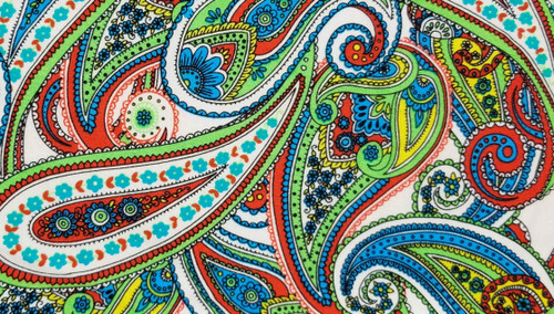 Paisley - Green / Burnt Red - 44