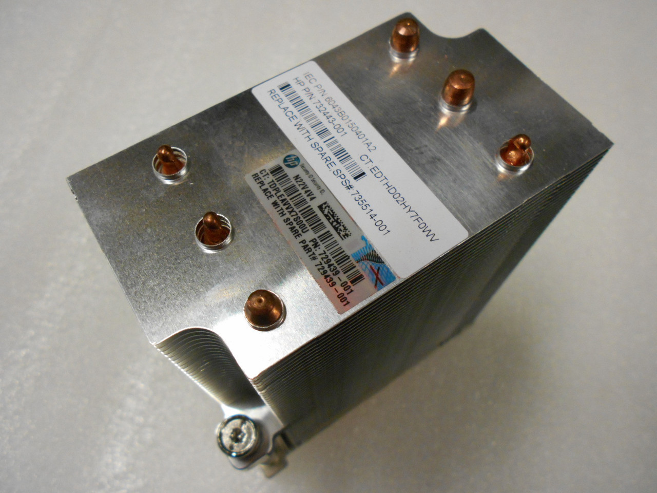 HP PROLIANT DL580 G8 SCREW TYPE SERVER HEATSINK (735514-001