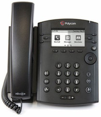 Polycom VVX 301 Business Media Phone w/AC Adapter (2200-48300-001) - RECERTIFIED