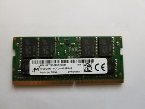 Micron 16GB 1x16GB 2RX8 PC4-2400T DDR4-2400Mhz 260pin So-dimm Laptop Memory (GNRC-16GB)