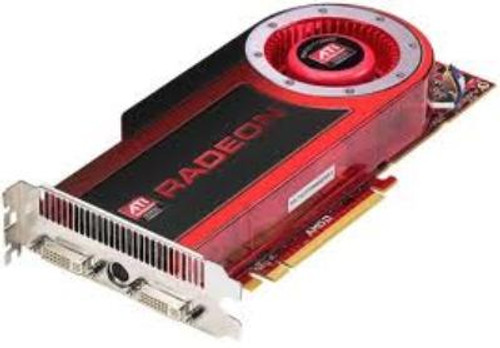 DELL U092N ATI RADEON HD4870 1GB PCI EXPRESS X16 DUAL DVI HDTV OUT GDDR3 SDRAM GRAPHICS CARD W/O CABLE.
