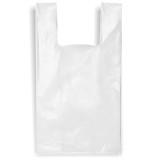 T-Shirt Shopping Bags  - White Plastic