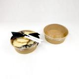Paper Deli Bowls with Lids - Natural Kraft