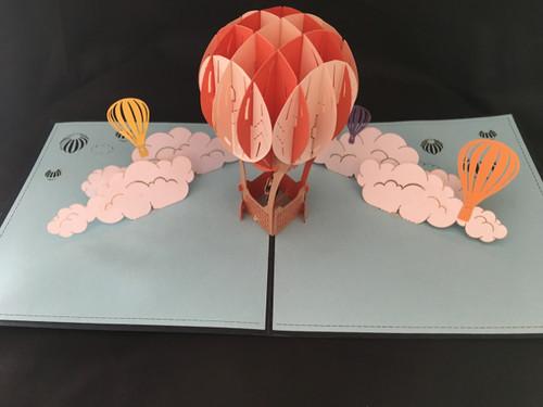 Balloon  Handmade 3D Kirigami Card