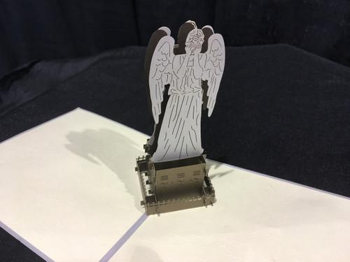 Weeping Angel Dr Who Handmade 3D Kirigami Card