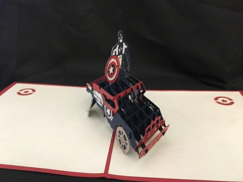 Avengers Handmade 3D Kirigami Card