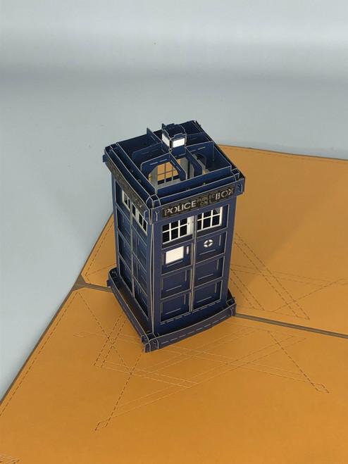 Handmade 3D Kirigami Card  with envelope  Tardis Dr Who