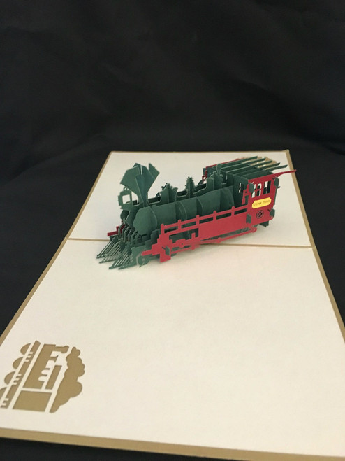 Train Handmade 3D Kirigami Card