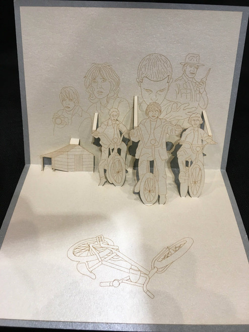 Handmade 3D Kirigami Card Stranger Things