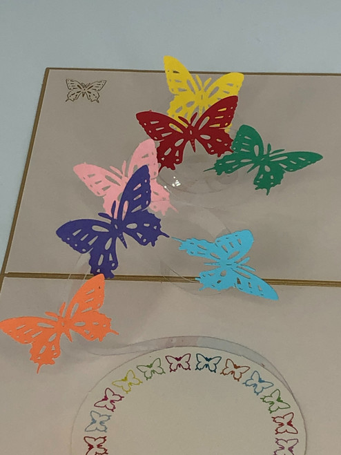 Handmade 3D Kirigami Card  with envelope  Butterflies