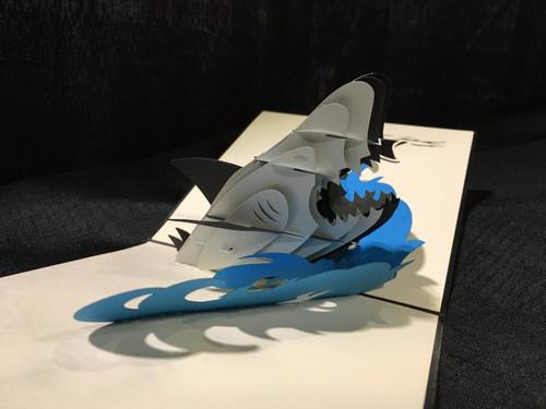 Shark1 Handmade 3D Kirigami Card