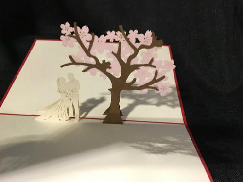 Wedding Tree Handmade 3D Kirigami card