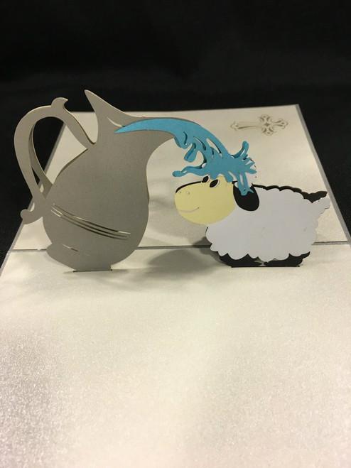Baptism Handmade 3D Kirigami card