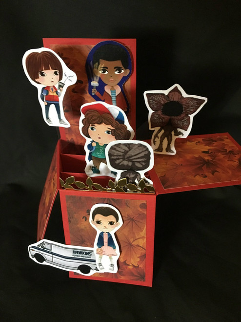 Stranger Things  All Boxed Up  3D Pop Up Card  6 X 4 with envelope