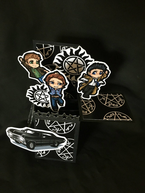 Supernatural  All Boxed Up  3D Pop Up Card  6 X 4 with envelope