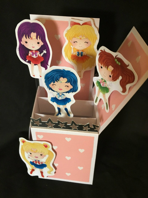 Sailor Moon  All Boxed Up  3D Pop Up Card  6 X 4 with envelope