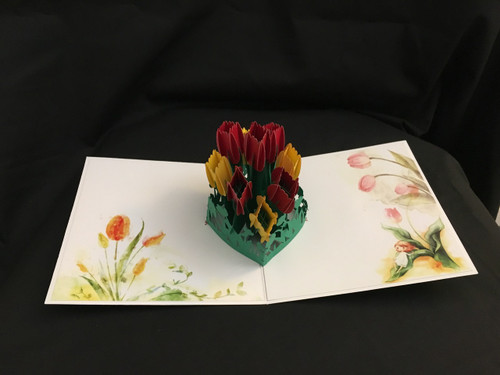 Handmade 3D Pop Up Cards  Kirigami  Color Roses