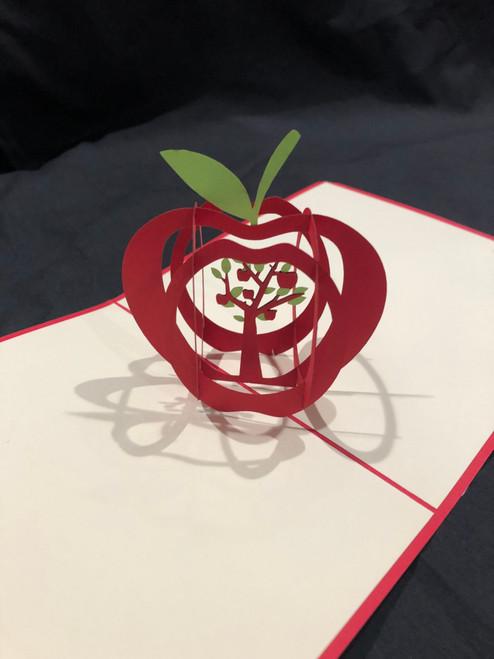 Handmade 3D Pop Up Cards  Kirigami  Apple Teacher School